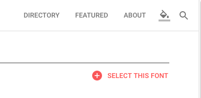 Google fonts select this font